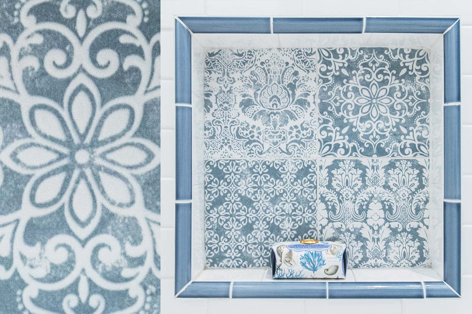 Blue and White Tile Detail